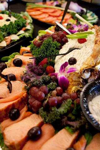 The Smoked Fish Display for Kiddush Certified Kosher Caterers Panache Catering By Foodarama
